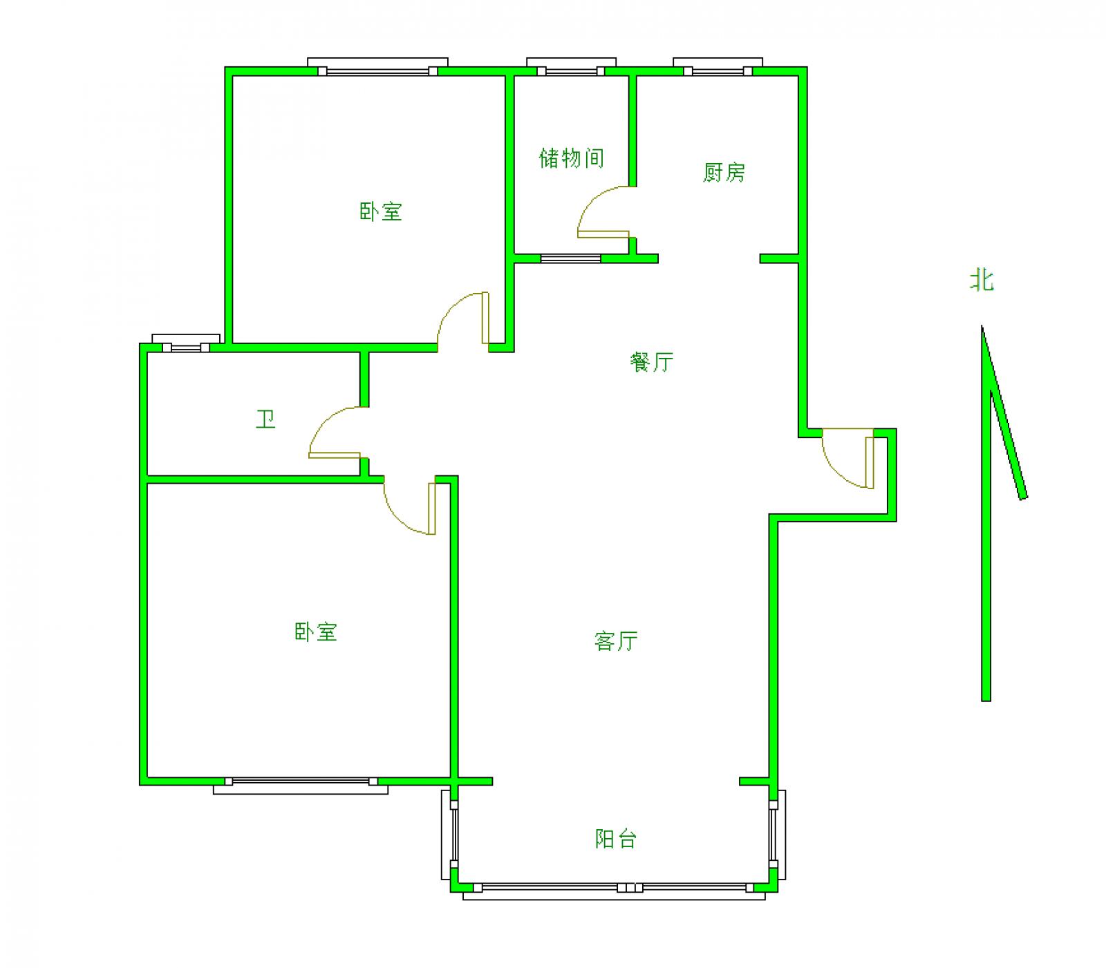 浔城湖锦 2室2厅88.44㎡