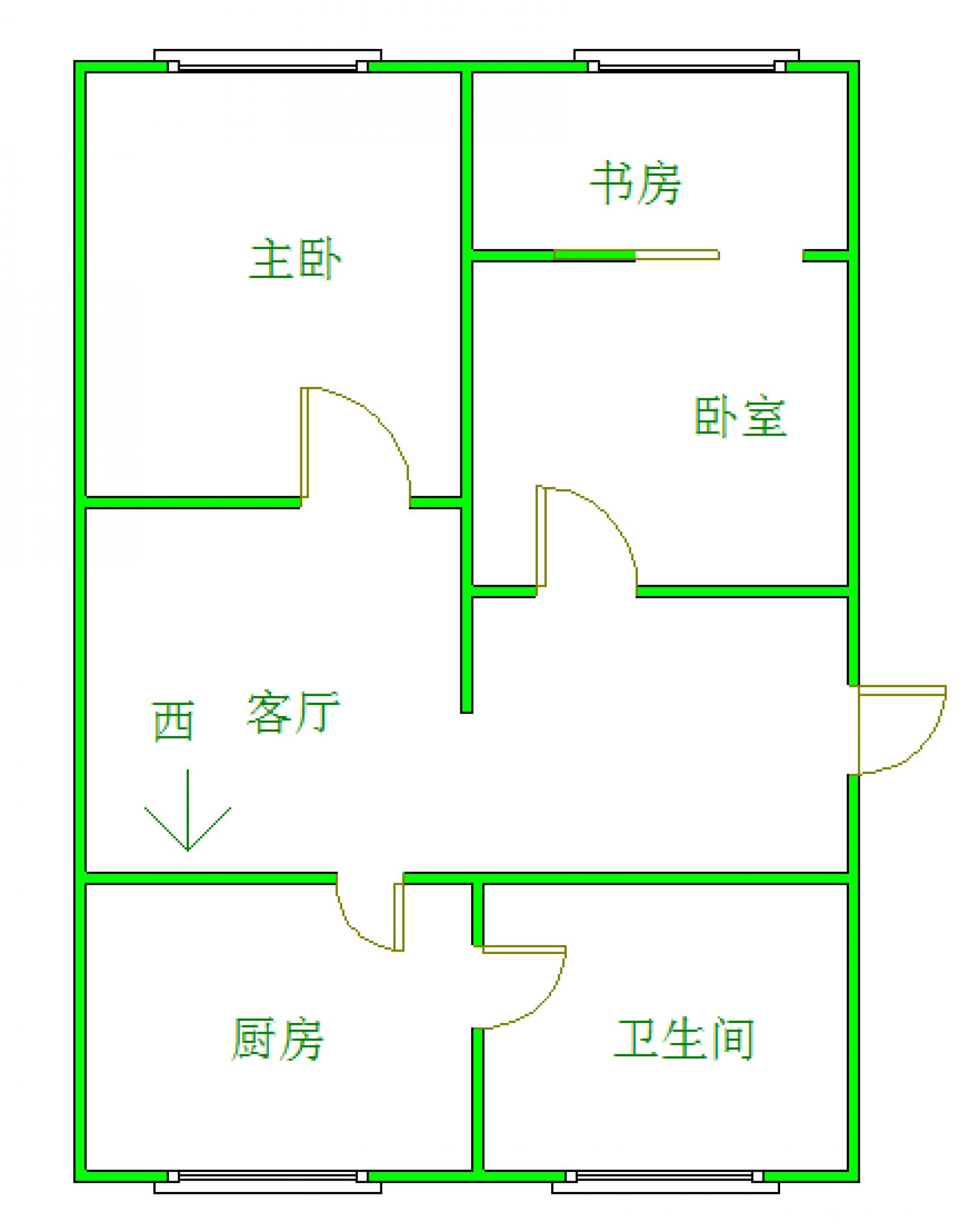 延支山 2室2厅75㎡