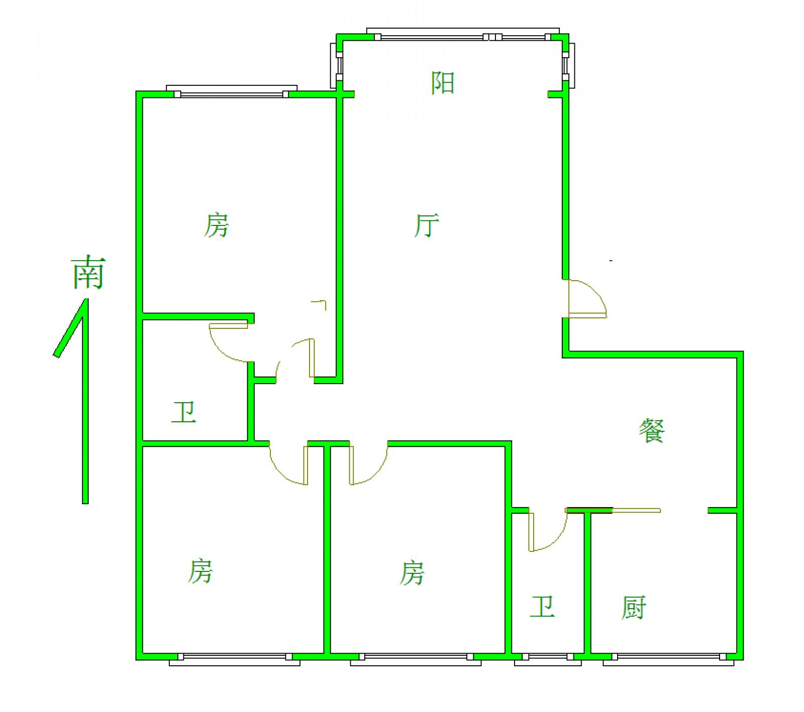 园艺小区 3室2厅120㎡