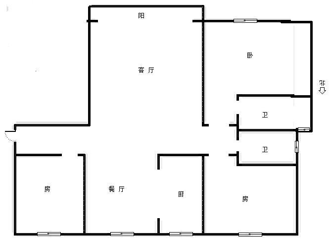 戛纳小镇 3室2厅117㎡