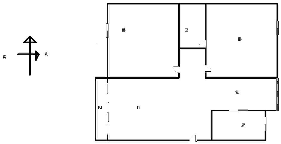 东方塞纳 2室2厅90㎡