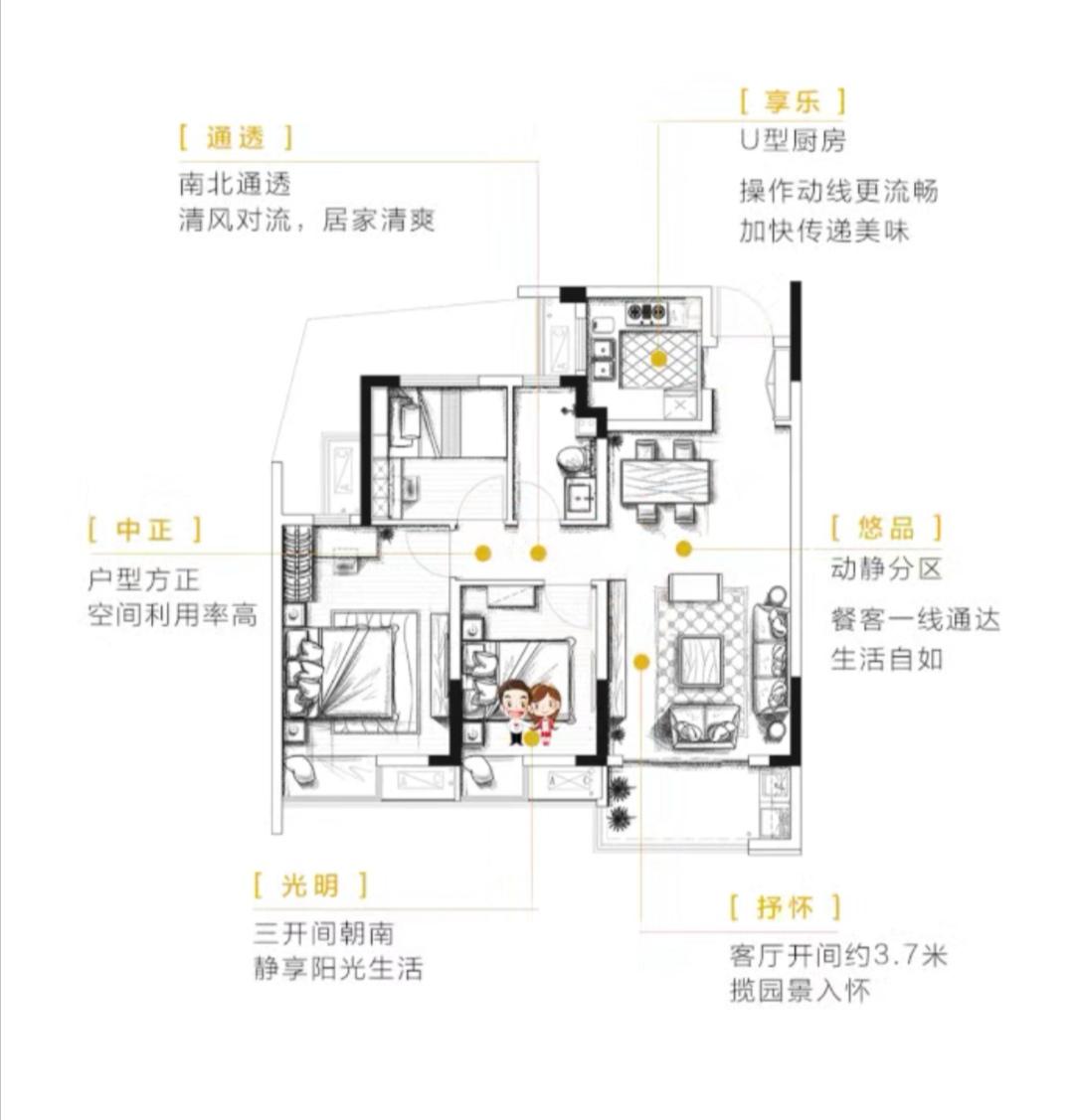 融信碧桂园金地·九棠的户型图